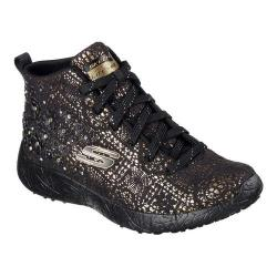 Women's Skechers Burst Seeing Stars High Top Black/Gold