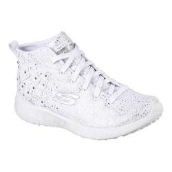 Women's Skechers Burst Seeing Stars High Top White/Silver