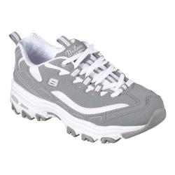 Women's Skechers D'Lites Sneaker Biggest Fan/Gray/White