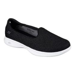 Women's Skechers GO STEP Lite Lux Slip-On Black/White