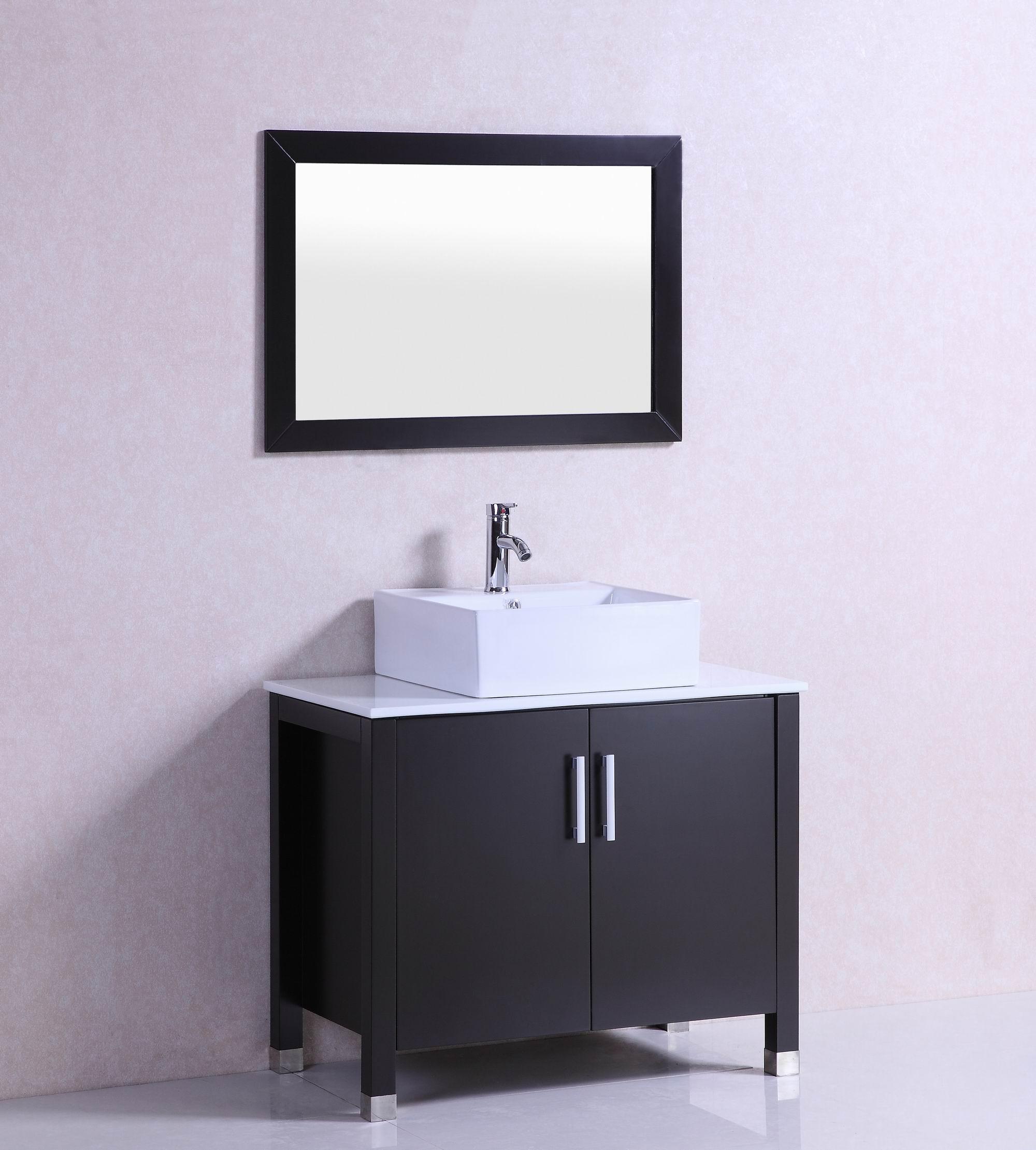Shop 36 inch belvedere modern freestanding espresso - Bathroom vanity with vessel sink sale ...
