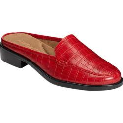 Women's Aerosoles Best Wishes Mule Red Croco Embossed Faux Leather