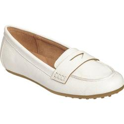 Women's Aerosoles Drive In Loafer White Faux Leather