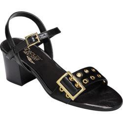 Women's Aerosoles Mid Town Quarter Strap Sandal Black Faux Leather