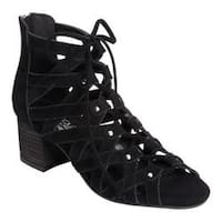 Women's Aerosoles Middle Ground Ghillie Lace Sandal Black Suede