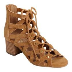 Women's Aerosoles Middle Ground Ghillie Lace Sandal Dark Tan Suede