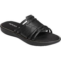 Women's Aerosoles Super Cool Slide Sandal Black Faux Leather