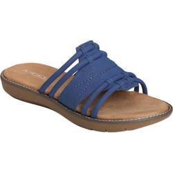 Women's Aerosoles Super Cool Slide Sandal Blue Faux Leather