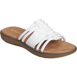 Women's Aerosoles Super Cool Slide Sandal White Faux Leather