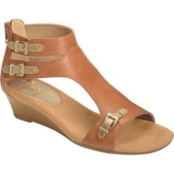 Women's Aerosoles Yet Another Dark Tan Combo Faux Leather