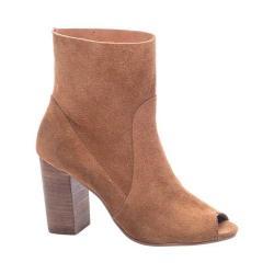 Women's Chinese Laundry Tom Girl Open Toe Bootie Whiskey Split Suede