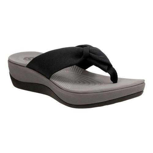 eae98375a676 Shop Women s Clarks Arla Glison Thong Sandal Black Fabric - On Sale - Free  Shipping Today - Overstock - 14165500