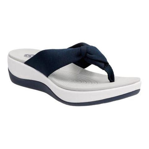 d45ee9ad480f Women s Clarks Arla Glison Thong Sandal Blue Heather Fabric