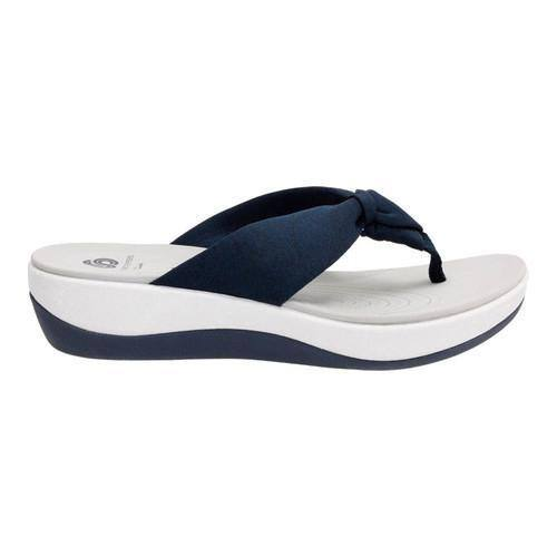 fd35cabf5c7c Shop Women s Clarks Arla Glison Thong Sandal Blue Heather Fabric ...
