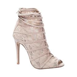 Women's Chinese Laundry Jingle Open Toe Bootie Nude Lace