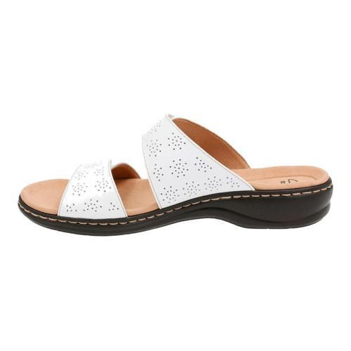 5cef9539ad50 Shop Women s Clarks Leisa Lacole Slide White Leather - Free Shipping ...