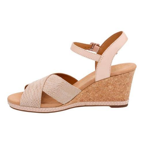 b014a54901c ... Thumbnail Women  x27 s Clarks Helio Latitude Wedge Sandal Nude Leather  Suede