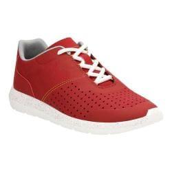 Men's Clarks Torset Vibe Sneaker Red Textile/Mesh