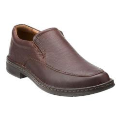 Men's Clarks Kyros Free Slip-On Brown Tumbled Leather