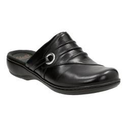 Women's Clarks Leisa Bliss Clog Black Leather
