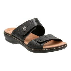 Women's Clarks Leisa Lacole Slide Black Leather