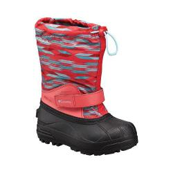 Children's Columbia Powderbug Forty Print Boot Red Camellia/Clear Blue