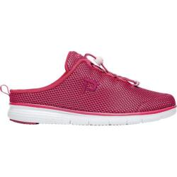 Women's Propet TravelFit Mule Red/Black Mesh