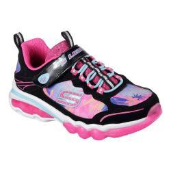 Girls' Skechers S Lights Light It Up Trainer Black/Multi