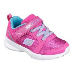 Girls' Skechers Skech Stepz Trainer Neon Pink/Turquoise