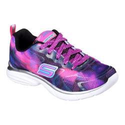 Girls' Skechers Spirit Sprintz Color Wave Trainer Black/Pink/Purple