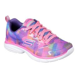 Girls' Skechers Spirit Sprintz Color Wave Trainer Neon Pink/Multi