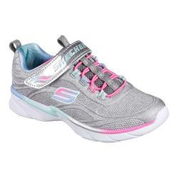 Girls' Skechers Swirly Girl Shimmer Time Slip-On Trainer Light Gray/Multi