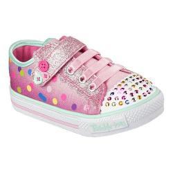 Girls' Skechers Twinkle Toes Shuffles Dazzle Dots Sneaker Pink