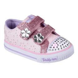 Girls' Skechers Twinkle Toes Shuffles Petal Pop Sneaker Pink/Hot Pink