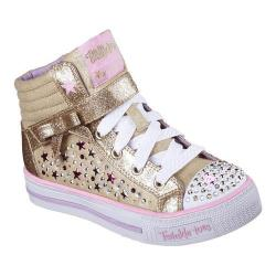 Girls' Skechers Twinkle Toes Shuffles Starry Spirit High Top Gold/Multi
