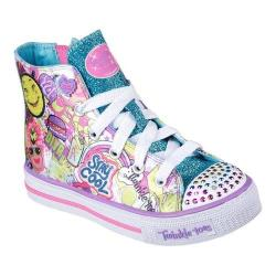 Girls' Skechers Twinkle Toes Shuffles Trendy Talk High Top Multi