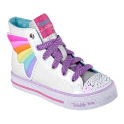 Girls' Skechers Twinkle Toes Shuffles Wander Wings High Top White/Multi