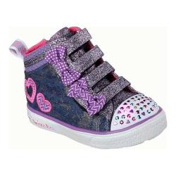 Girls' Skechers Twinkle Toes Twinkle Breeze Denim Love High Top Denim/Multi