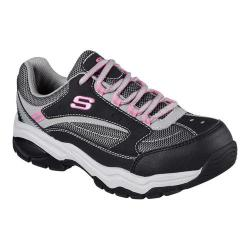 Women's Skechers Work Biscoe Steel Toe Sneaker Black/Gray