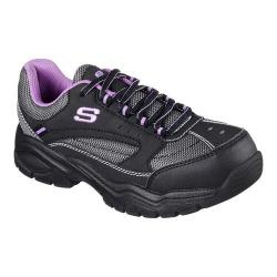 Women's Skechers Work Biscoe Steel Toe Sneaker Black/Purple
