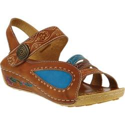 Women's L'Artiste by Spring Step Thianne Ankle Strap Sandal Camel Multi Leather