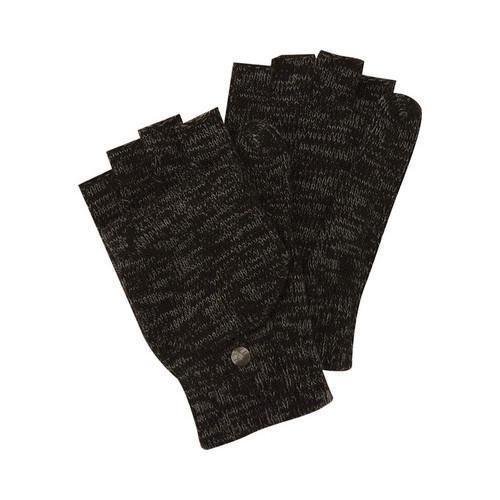 Men's Perry Ellis Space Dyed Flip Mitten Glove Black