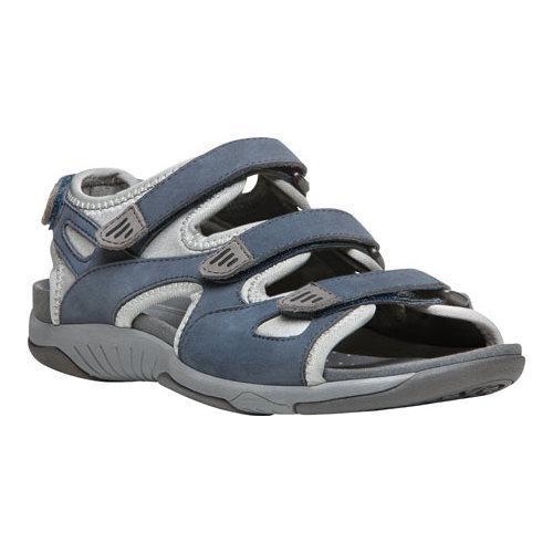 c2fdb1b79337 Shop Women s Propet Nami Adjustable Strap Sandal Denim Blue Grey Nubuck -  Free Shipping Today - Overstock.com - 14174972