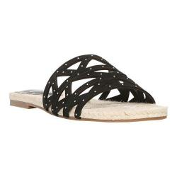 Women's Fergie Footwear Minx Slide Black Suede