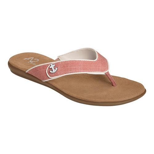 b0b9c11aae11 Shop Women s A2 by Aerosoles Chlear Sailing Thong Sandal Pink Combo Faux  Leather - Free Shipping On Orders Over  45 - Overstock - 14195971