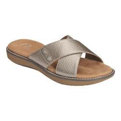 Women's A2 by Aerosoles Cool Breeze Slide Sandal Pewter Faux Leather
