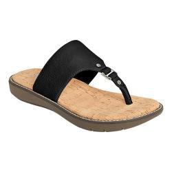 Women's A2 by Aerosoles Cool Cat Thong Sandal Black Faux Leather