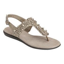Women's A2 by Aerosoles Glee Chlub T-Strap Sandal Silver Metallic Faux Leather