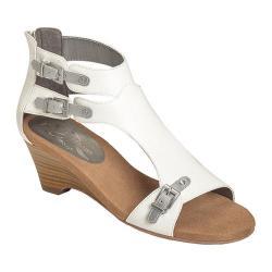 Women's A2 by Aerosoles Mayflower Wedge Sandal White/Silver Faux Leather