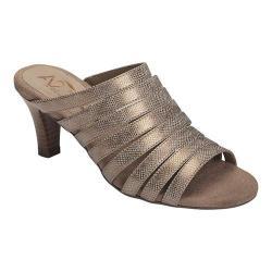 Women's A2 by Aerosoles Spowse Slide Sandal Bronze Snake Printed Faux Leather